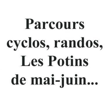 Parcours cyclo, randos, potins…