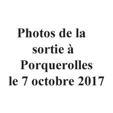 Photos de la sortie à Porquerolles