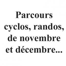 Les parcours de novembre et décembre