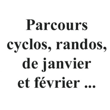 Parcours cyclos…