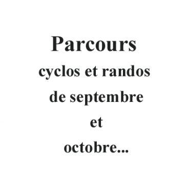 Parcours septembre et octobre