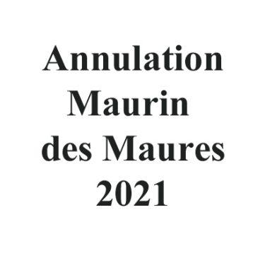 Annulation de la Maurin des Maures 2021